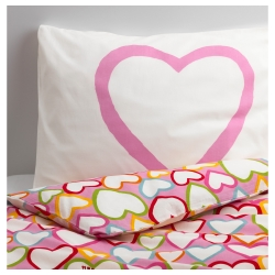 VITAMINER HJÄRTA Single quilt cover and pillowcase
