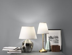floor lamps, table lamps and shades