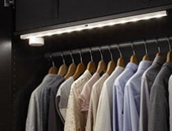 integrated led lighting: kitchens, wardrobes & bookcases