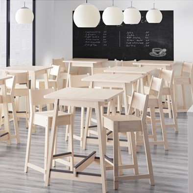 bar tables, bar stools and high chairs