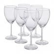 SVALKA Juego de 6 copas de vino blanco, vidrio, 25cl