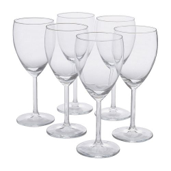 SVALKA Set of 6 white wine glass cups, 8oz