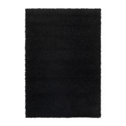 HAMPEN Alfombra, pelo largo 133x195 negro