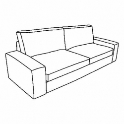 KIVIK Estructura de sofá 3 plazas