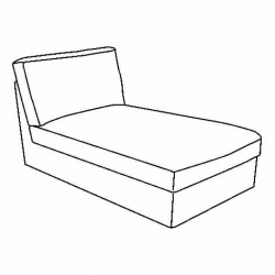 1 x KIVIK Estructura diván