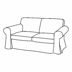 1 x EKTORP Two-seat sofa frame