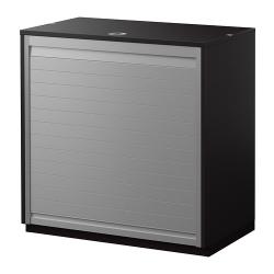 GALANT Armario con puerta de persiana 80x80 negro-marrón