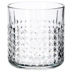 FRASERA Vaso para whisky, vidrio con relieve, 30cl