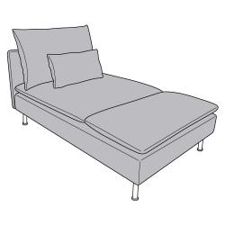 1 x SÖDERHAMN Estructura de chaiselongue