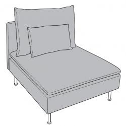 1 x SÖDERHAMN Estructura de 1 asiento