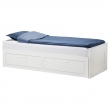 BRIMNES Day-bed frame with 2 drawers