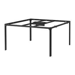 1 x BEKANT Estructura para tablero mesa reuniones 140x140 cm negro