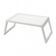 KLIPSK Bandeja de cama, plástico blanco