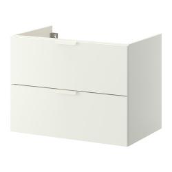 GODMORGON Armario lavabo blanco 2 cajones