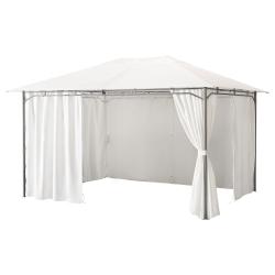 KARLSÖ Cenador con cortinas