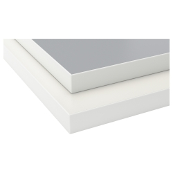 EKBACKEN Encimera doble cara gris claro, blanco