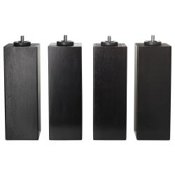 BRENNÅSEN Patas 20 cm para base de colchón, 4 unidades tinte negro