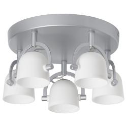 SVIRVEL Lámpara de techo con 5 focos