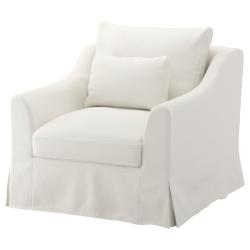 1 x FÄRLÖV Funda sillón FLODAFORS blanco