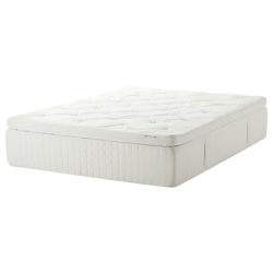 HJELLESTAD Mattress resortes/memory Queen firmeza media
