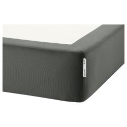 1 x ESPEVÄR Cover base de cama gris oscuro, Twin
