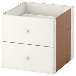 KALLAX Insert with 2 drawers, white