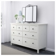 HEMNES Chest of 8 drawers, solid pine