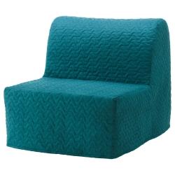 1 x LYCKSELE Funda sillón-cama, VALLARUM turquesa