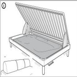 1 x FLOTTEBO Estructura de sofá-cama