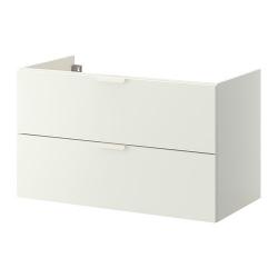 1 x GODMORGON Armario lavabo 100cm + 2 cajones