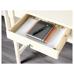 INGATORP Escritorio extensible 73/127x50 cm blanco con gaveta