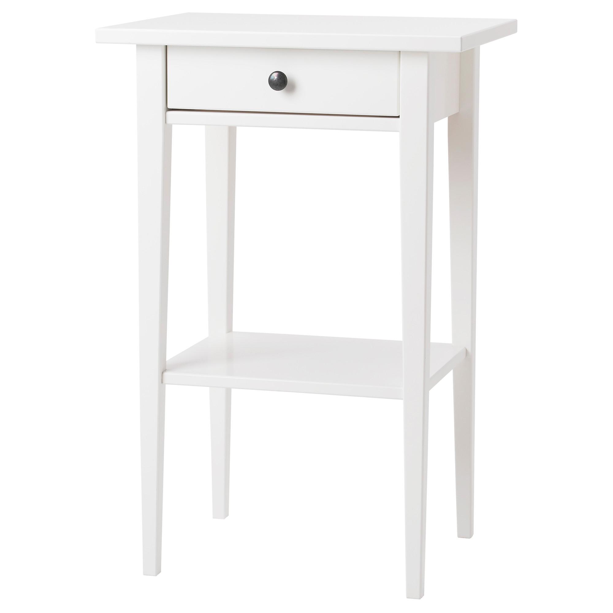 HEMNES mesa de noche, blanco