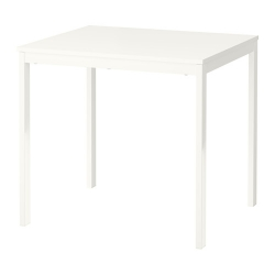 VANGSTA Mesa extensible 80/120x70 cm blanco