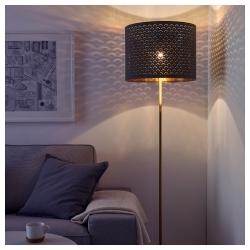 NYMÖ Pantalla para lámpara negro/bronce 44 cm