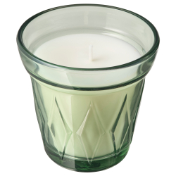 VÄLDOFT Scented candle in glass morning dew
