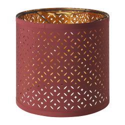 NYMÖ Pantalla para lámpara rojo oscuro/bronce 24 cm