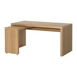 malm escritorio con tablero extrable