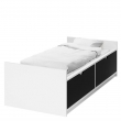 FLAXA Estructura cama 90 con almacenaje inferior + somier láminas
