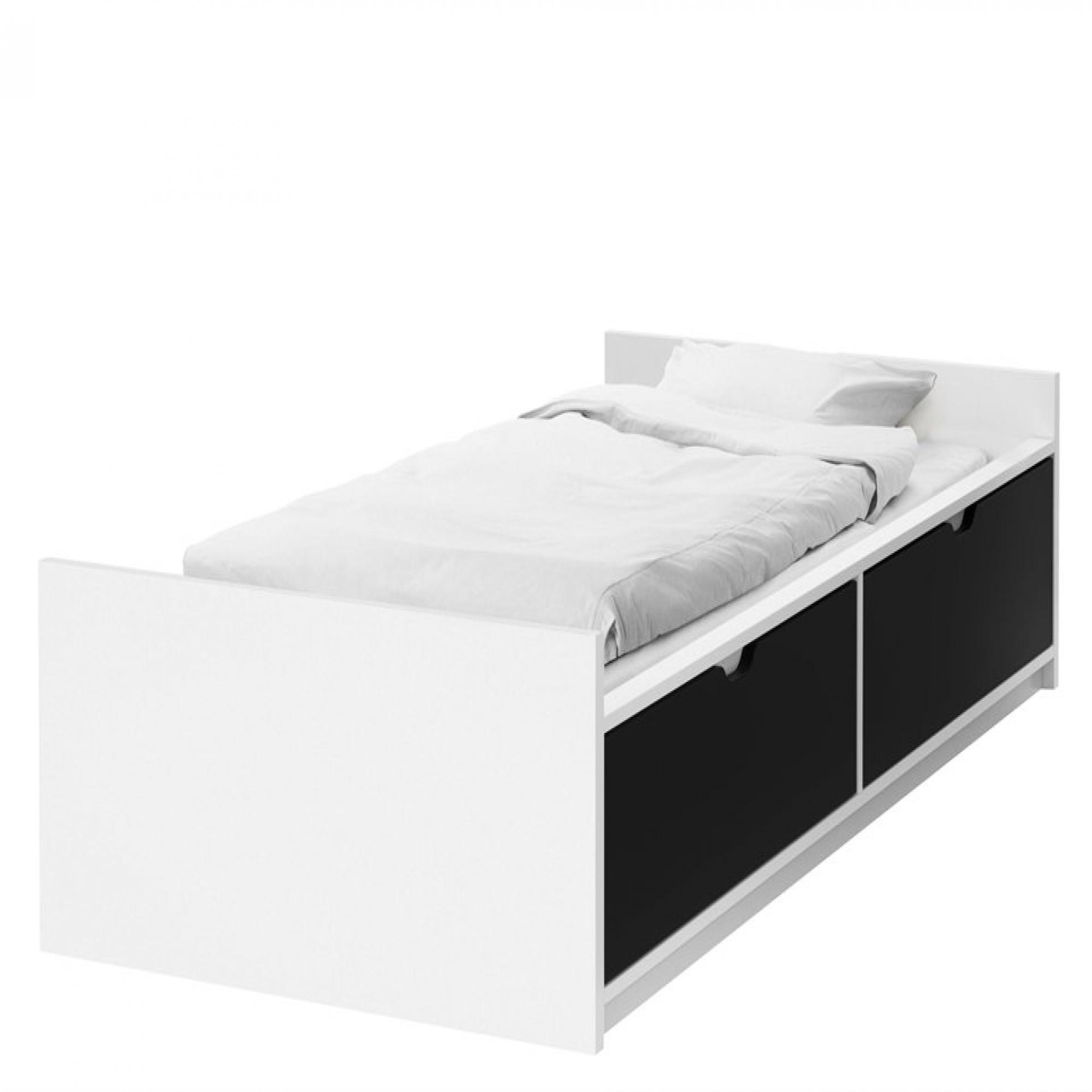 Flaxa estructura cama 90 con almacenaje inferior somier - Camas con almacenaje ikea ...