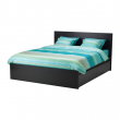 MALM Bed frame, high, w 4 storage boxes