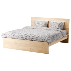 MALM Cama Queen + tablillas Lönset