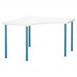 LINNMON/ADILS Mesa de escritorio de esquina 120x120 cm blanco/azul