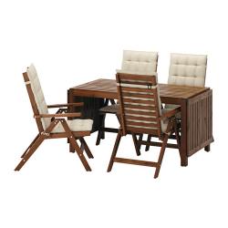 ÄPPLARÖ Mesa+4 sillas reclinables, ext