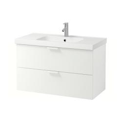 GODMORGON/ODENSVIK Armario para lavamanos+2 cajones