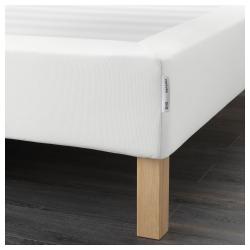 ESPEVÄR Base para colchón 160 con patas BURFJORD 20cm, funda blanca
