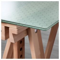 GLASHOLM/FINNVARD Mesa de escritorio 148x73 cm con caballete de altura regulable