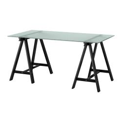 GLASHOLM/ODDVALD Mesa de escritorio 148x73 cm vidrio