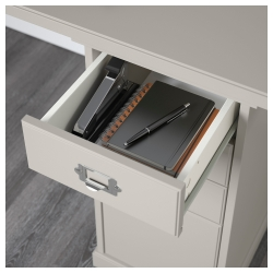 KLIMPEN Mesa de escritorio 120x60 cm con 2 cajoneras