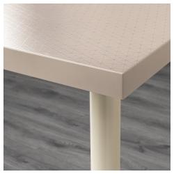 LINNMON/ADILS Mesa de escritorio 120x60 cm geométrico beige