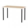 LINNMON/ADILS Mesa de escritorio 120x60 cm blanco efecto roble/negro